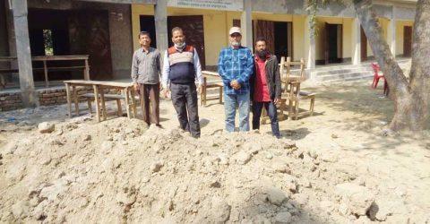 সামান্য বরাদ্দ দিয়ে স্কুল মাঠের বিশাল উন্নয়ন